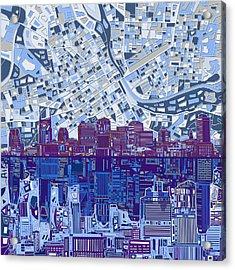 Nashville Skyline Abstract 8 Acrylic Print