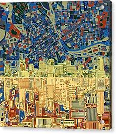 Nashville Skyline Abstract 9 Acrylic Print