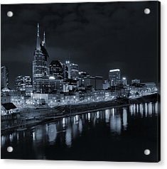 Nashville Skyline At Night Acrylic Print by Dan Sproul