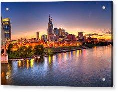 Nashville Skyline Acrylic Print by Brett Engle