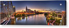 Nashville Skyline Panorama Acrylic Print by Brett Engle
