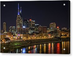 Nashville Skyline Acrylic Print by Rick Berk