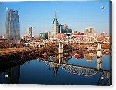 Nashville Skyline, Tennessee Acrylic Print