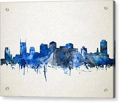 Nashville Skyline Watercolor 11 Acrylic Print