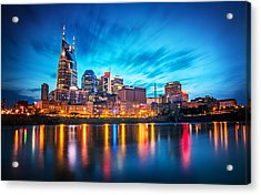 Nashville Twilight Acrylic Print by Lucas Foley
