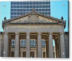 Nashville War Memorial Auditorium Acrylic Print by Dan Sproul