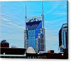 Nashville's Batman Building Acrylic Print by Jessica Stiles