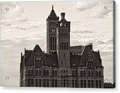 Nashville's Union Station Acrylic Print by Dan Sproul