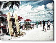 Acrylic Print featuring the photograph Nassau Beach by Gina Cormier
