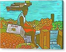 Nassau Fruit Seller Acrylic Print by Frank Hunter