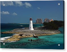 Acrylic Print featuring the photograph Nassau Harbour Lighthouse by Bill Swartwout
