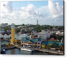 Acrylic Print featuring the photograph Nassau In The Bahamas by Teresa Schomig