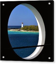 Nassau Lighthouse Porthole View Acrylic Print by Bill Swartwout Photography
