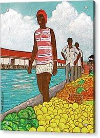 Nassau Woman Acrylic Print by Frank Hunter