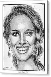 Natalie Portman In 2011 Acrylic Print by J McCombie