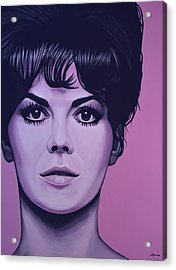Natalie Wood Acrylic Print by Paul Meijering
