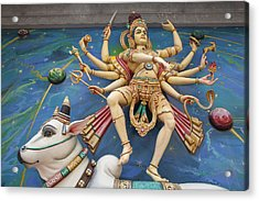 Nataraj Dancing Shiva Statue Acrylic Print by JPLDesigns