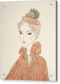 Natasha Acrylic Print by Christine Corretti