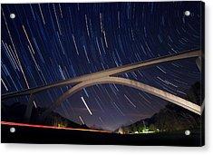 Natchez Trace Bridge At Night Acrylic Print by Malcolm MacGregor