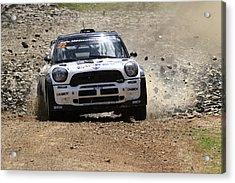 Nathan Quinn Fia World Rally Championship Australia 2013 Acrylic Print by Noel Elliot