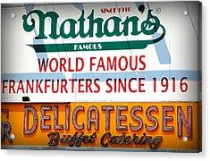 Nathan's Sign Acrylic Print