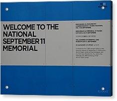 National 9/11 Memorial  Acrylic Print by Rob Hans