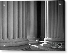 National Archives Columns Acrylic Print by Inge Johnsson