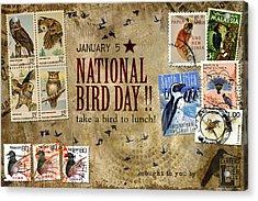 National Bird Day Acrylic Print by Carol Leigh