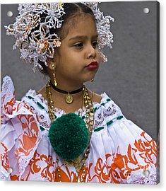 National Costume Of Panama Acrylic Print by Heiko Koehrer-Wagner