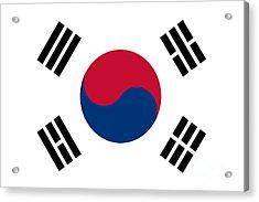 National Flag Of South Korea Authentic  Acrylic Print