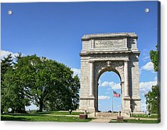 National Memorial Arch At Valley Forge Acrylic Print by Olivier Le Queinec