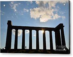 National Monument Of Scotland In Edinburgh Acrylic Print