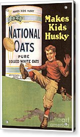 National Oats 1920s Usa Cereals Acrylic Print by The Advertising Archives