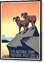 National Parks Poster 1939 Acrylic Print by Padre Art