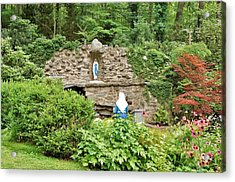 National Shrine Grotto Of Our Lady Of Lourdes Acrylic Print