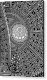 National Statuary Rotunda Bw Acrylic Print