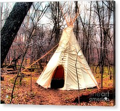 Native American Abode Acrylic Print by Jimmy Ostgard