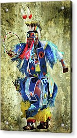 Acrylic Print featuring the photograph Native American Dancer by Barbara Manis