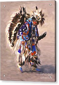 Native American Dancer Acrylic Print by Clare VanderVeen