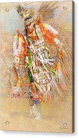 Native American Dancer Acrylic Print
