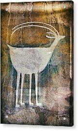 Native American Deer Pictograph Acrylic Print