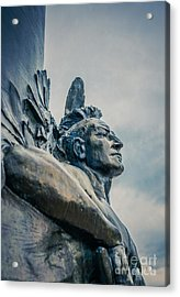 Native American Acrylic Print by Edward Fielding