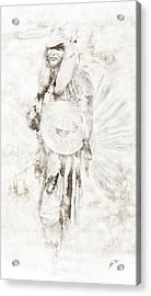 Acrylic Print featuring the digital art Native American by Erika Weber