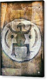 Native American Frog Pictograph Acrylic Print