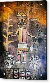 Native American Harvest Pictograph Acrylic Print