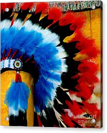 Acrylic Print featuring the photograph Native American Headdress by Janette Boyd
