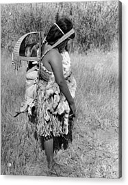 Native American Mother And Baby Acrylic Print
