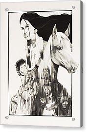 Native American Mother's Life Journey Acrylic Print by Joe Lisowski