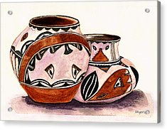 Native American Pottery Acrylic Print by Paula Ayers
