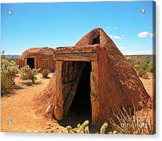 Native American Shelters Acrylic Print by John Malone